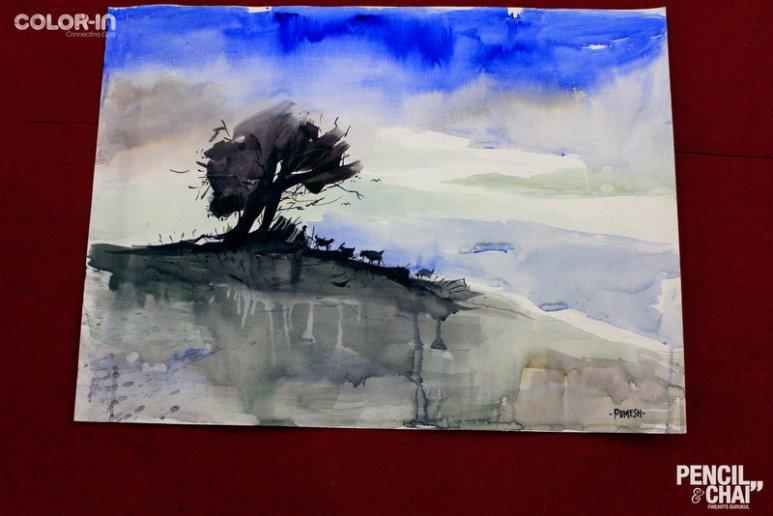 Hues of Watercolor_Watercolor workshops in Bangalore_Coloring IndiaMG_0141