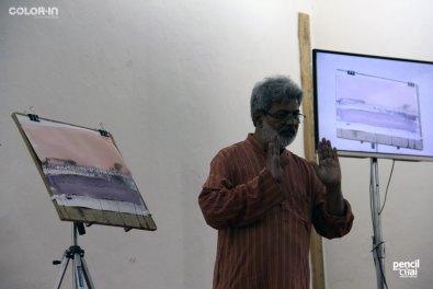 IMG_2375 painting workshop - IMG 2375 - Hues of Watercolor 6 Painting Workshop in bangalore-Vasudeo Kamath