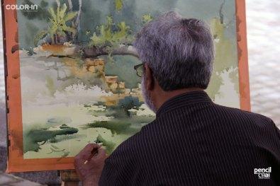 IMG_2903 painting workshop - IMG 2903 - Hues of Watercolor 6 Painting Workshop in bangalore-Vasudeo Kamath
