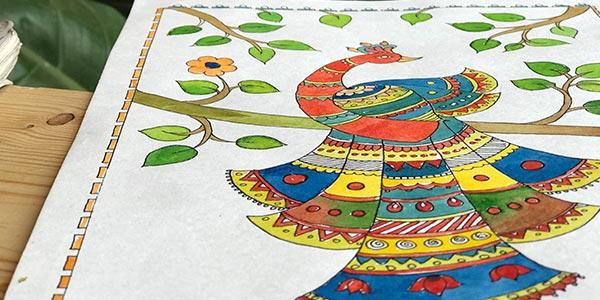 Madhubani-Painting-Classes-in-Bangalore madhubani painting courses - Madhubani Painting Classes in Bangalore - Madhubani Painting Classes by Pencil And Chai
