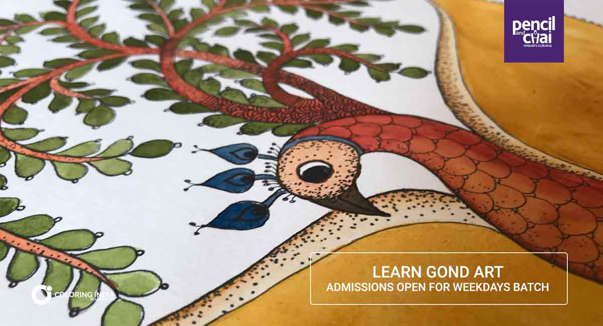 Gond-Painting-Classes-by-Pencil-And-Chai_2 gond art classes - Gond Painting Classes by Pencil And Chai 2 - Gond Art Classes by Pencil And Chai