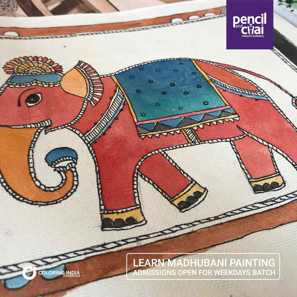 Madhubani-Painting-Classes-by-Pencil-And-Chai madhubani painting classes - Madhubani Painting Classes by Pencil And Chai - Madhubani Painting Classes by Pencil And Chai