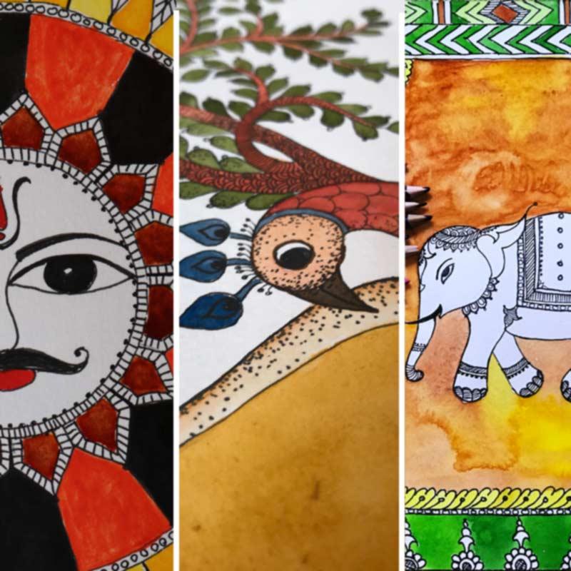Folk Art Painting Courses in Bangalore folk art painting - Folk Art Painting Courses by Pencil And Chai Fine Arts Gurukul - Folk Art Painting Classes by Pencil And Chai