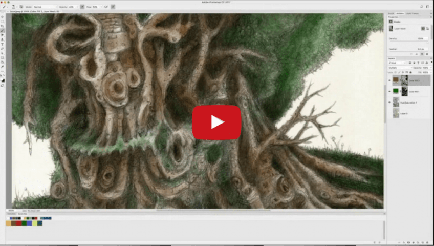 Youtube Thumbnail Green Man Drawing in PhotoShop