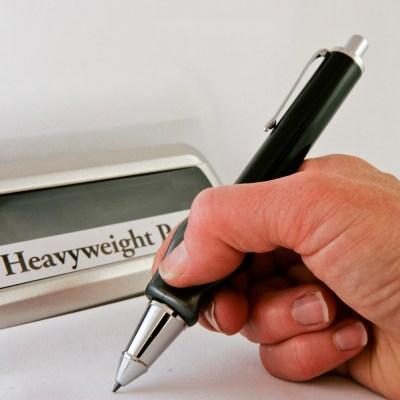 Heavyweight Ball Pen With Pencil Grip