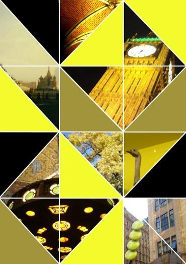 triangle photo collage