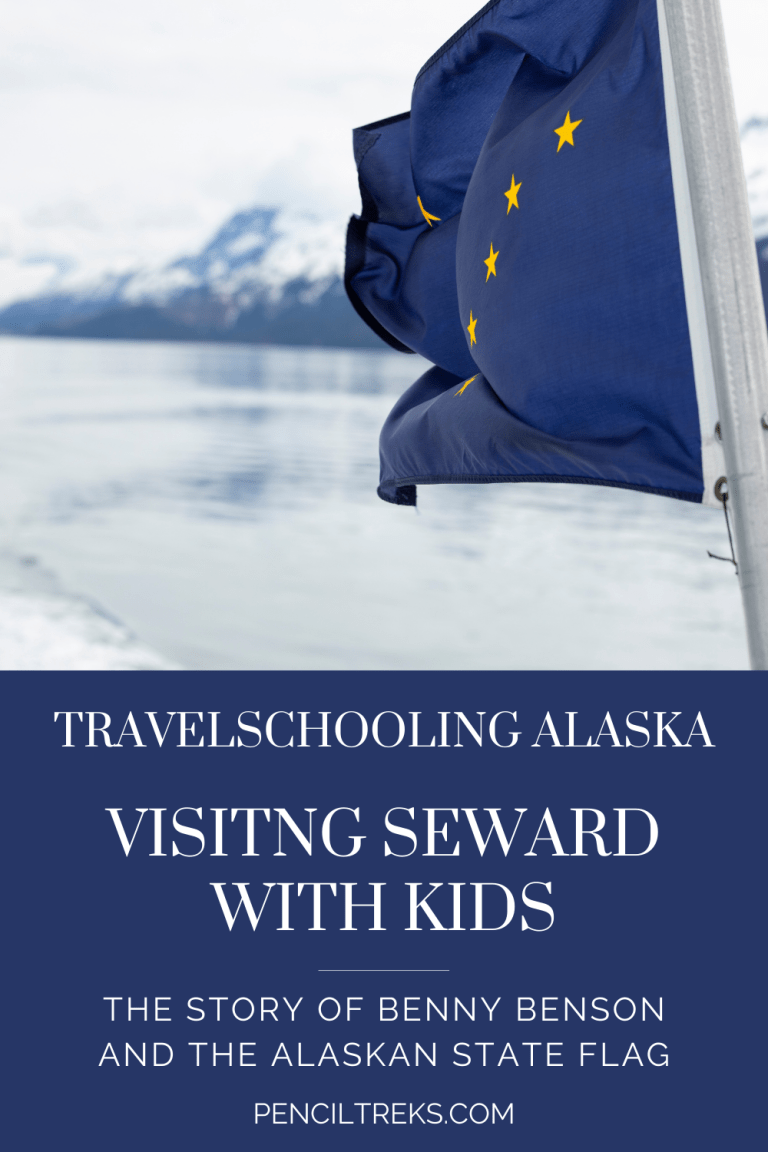 The story of Benny Benson and the Alaska State Flag are a great way to see Seward with Kids
