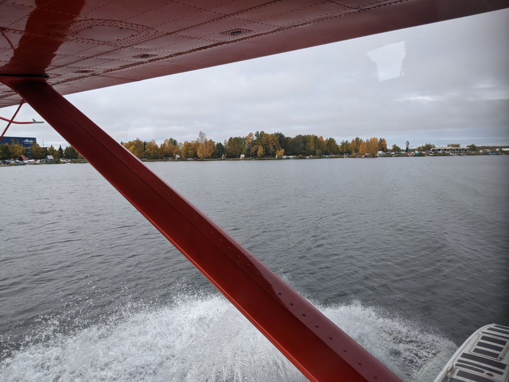 Takeoff in a seaplane on one of Rust's flightseeing tour is incredibly smooth!