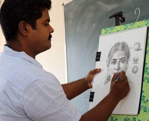 Head-Study-demo-by-Artist-Elayaraja-Pencil-tuts