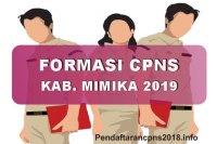 Formasi CPNS Kabupaten Mimika Tahun 2019
