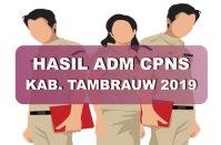 Hasil Seleksi Administrasi CPNS Kabupaten Tambrauw 2019