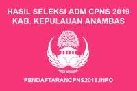 Hasil Seleksi Administrasi CPNS Kabupaten Kepulauan Anambas 2019
