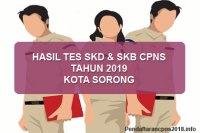 Hasil Tes SKD dan SKB CPNS Kota Sorong 2019