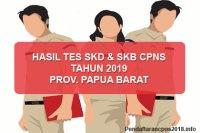 Hasil Tes SKD dan SKB CPNS Provinsi Papua Barat 2019