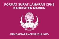 Format Surat Lamaran CPNS Kabupaten Madiun 2019