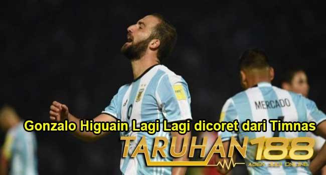 Gonzalo Higuain Lagi Lagi dicoret dari Timnas
