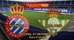 Prediksi Bola Espanyol vs Real Betis 31 Oktober 2017