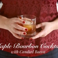 Maple Bourbon Cocktail with Candied Bacon