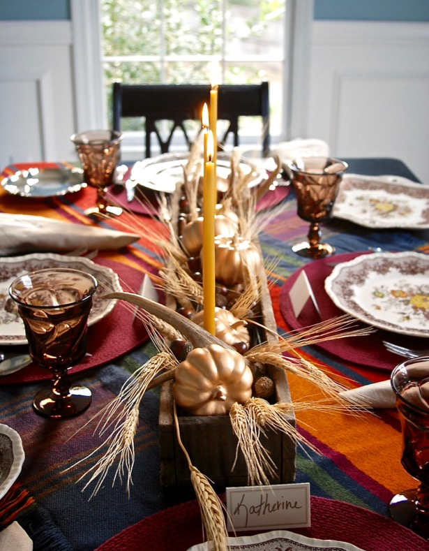 One Rustic Thanksgiving Table Two Centerpiece Ideas Pender Amp Peony A Southern Blog