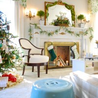 Boughs & Blossoms: My Green and Gold Christmas Living Room