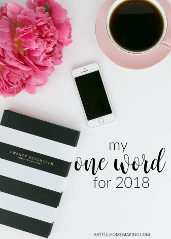 I love this idea instead of resolutions!