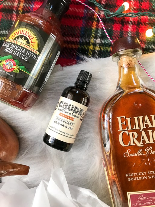 Anything food or bar related like this BBQ sauce, cocktail bitters, or Bourbon makes the perfect Christmas gift for the Southern gent in your life.
