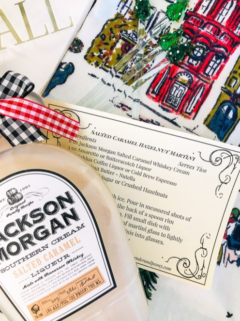 A thoughtful gift for the gourmet is a bottle of Jackson Morgan Cream and this martini recipe
