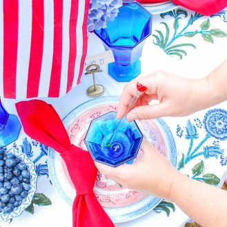 Watermelon drink stirrers for patriotic table decor
