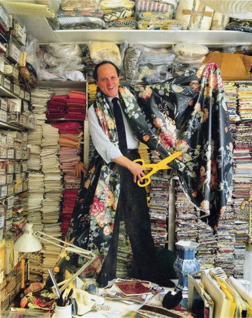 Mario Buatta with chintz fabric