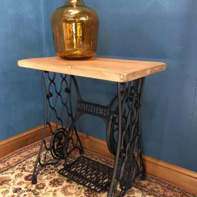 Singer Sewing Machine Table with Treadle Base 3 of 3