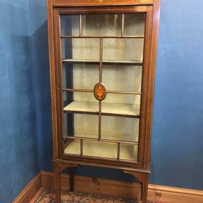 Edwardian Mahogany Glass Display Cabinet 1 of 3