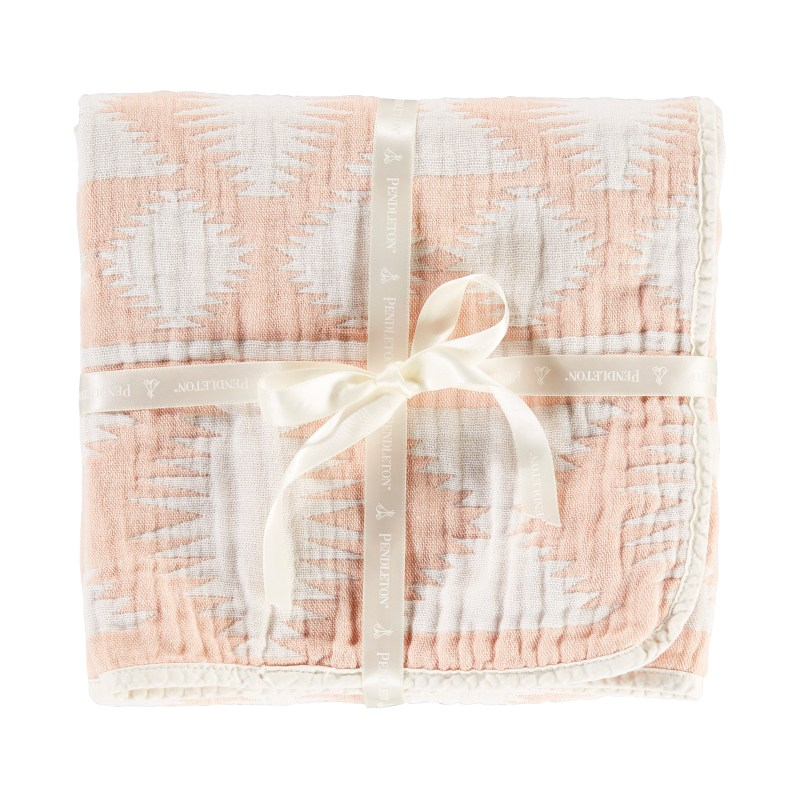 Cotton Woven Baby Blanket - Coral