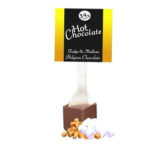 salted caramel hot chocolate stirrer, fudge hot chocolate, marshmallow hot chocolate