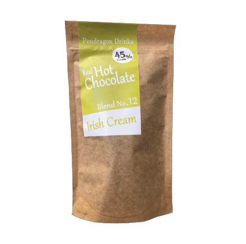 milk hot chocolate flakes with irish cream flavouring