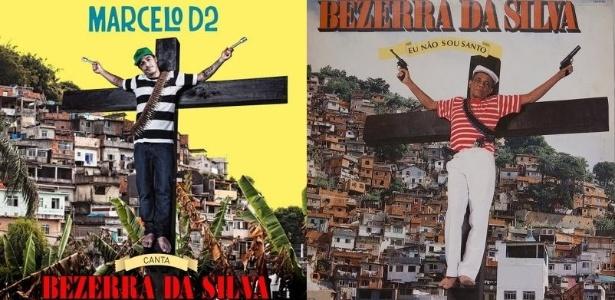 "Capas dos álbuns ""Marcelo D2 Canta Bezerra da Silva"" e ""Eu Não Sou Santo"""