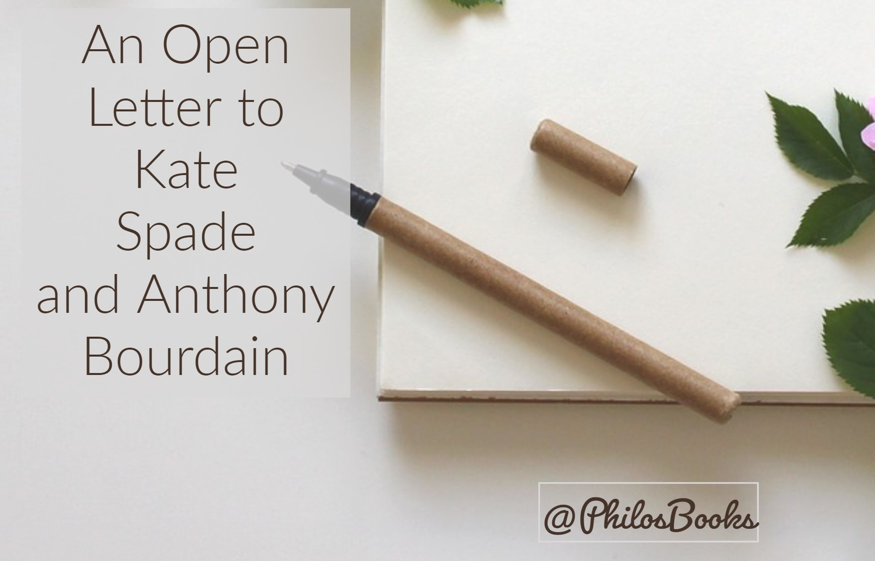 Death of Kate Spade and Anthony Bourdain