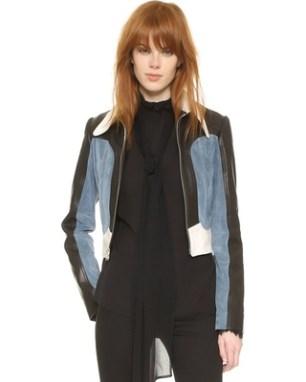 Rodarte - Colorblock Suede Cropped Jacket $5,028.75