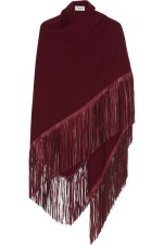Barbajada - Fringed Leather and Cashmere Wrap $850
