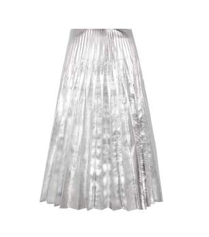 Gucci - Metallic Pleated Leather Skirt $3,250