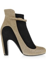 Maison Margiela - Glittered Suede Ankle Boots $1,469