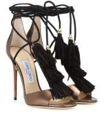 Mindy 110 Metallic Leather Sandals $1,156