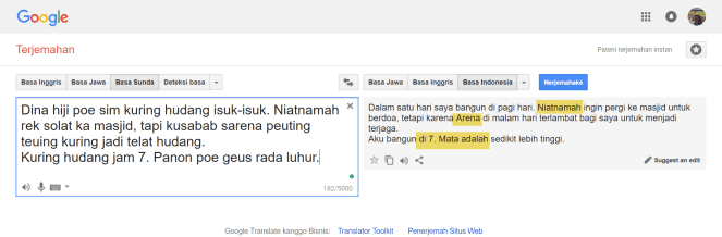 google translate sunda ke indo