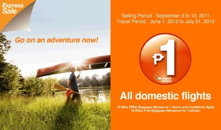 Airphil P1 Piso Fare and All in Fares Promo for 2012, 2013 and 2014