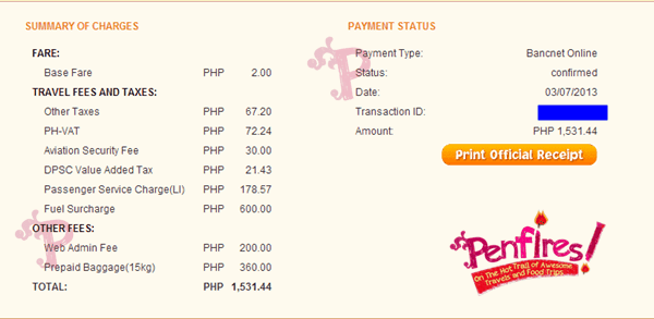 Piso Fare Ticket Sample Cost