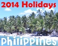 2014 Long Weekends and PH Holidays