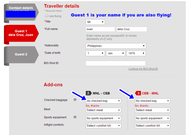 how to book in air asia website