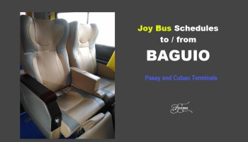 joy bus schedules baguio 2017 to 2018