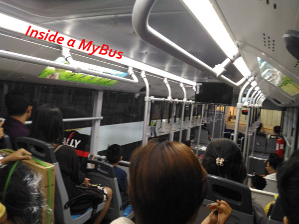 Inside MyBus bus in cebu