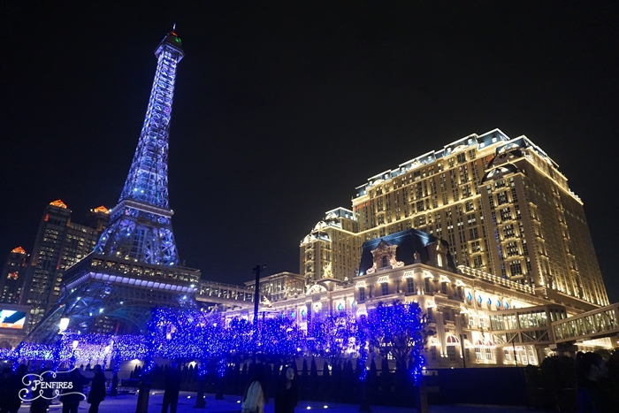 Parisian Macao Eiffel Tower at Night