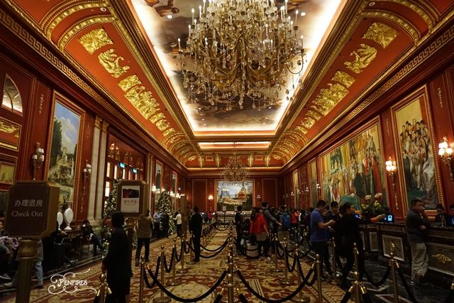 parisian macao hotel reception area